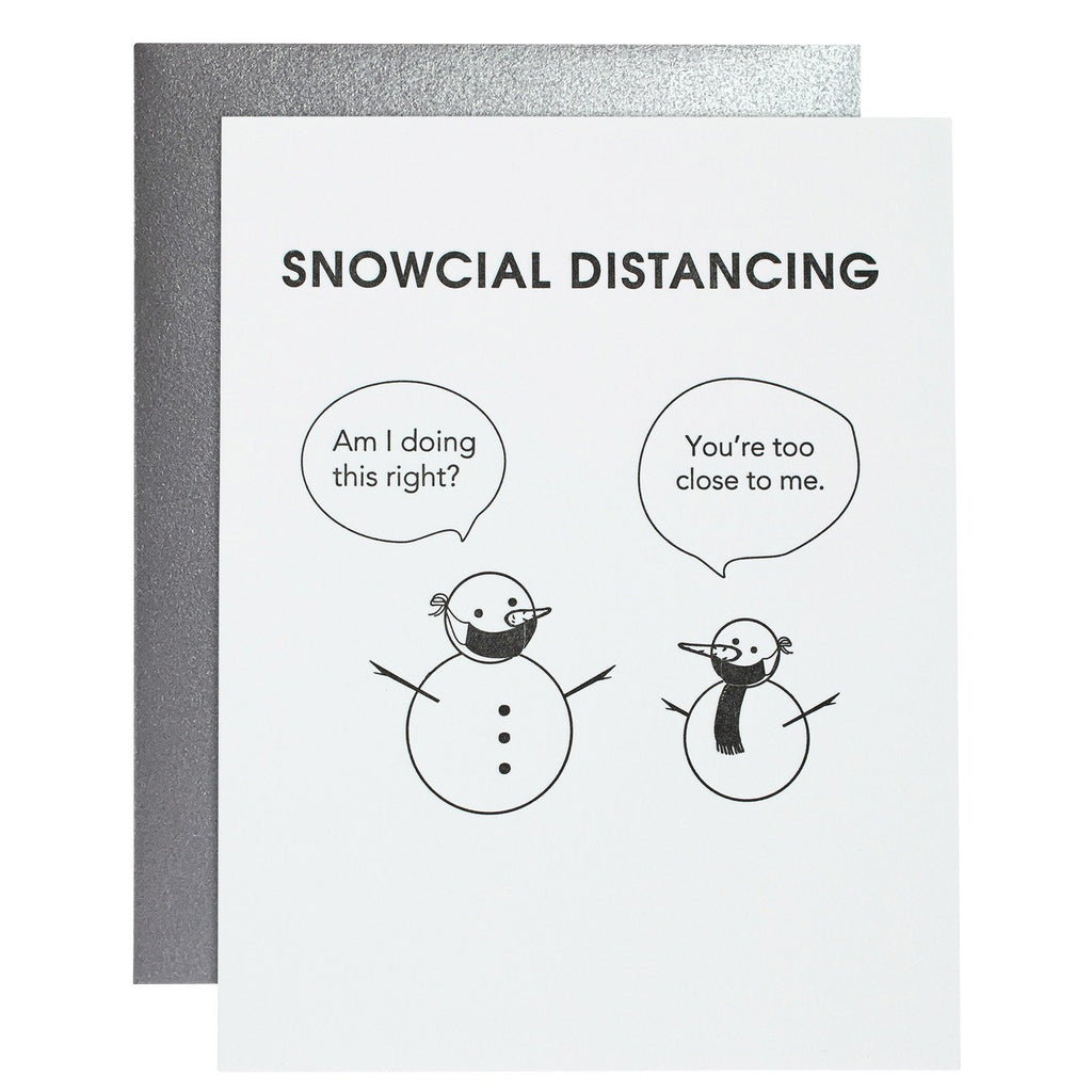 Snowcial Distancing Card - Caroline Hill