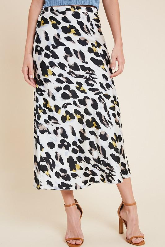 So Far Gone Leopard Midi Skirt - Caroline Hill