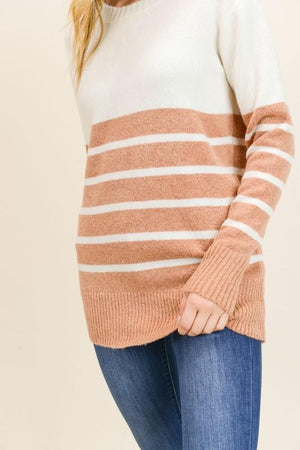 Something Keeps Calling Rust Striped Sweater - Caroline Hill