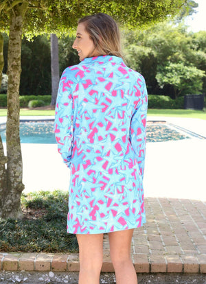 Sophi Sport Half Zip Dress Bluffharbor Starfish - Caroline Hill