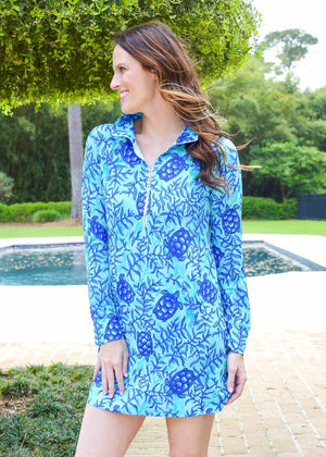 Sophi Sport Half Zip Dress Coco Bay Turtles - Caroline Hill