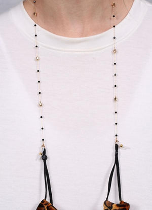 Spader Star And Bead Mask Chain Necklace Natural - Caroline Hill