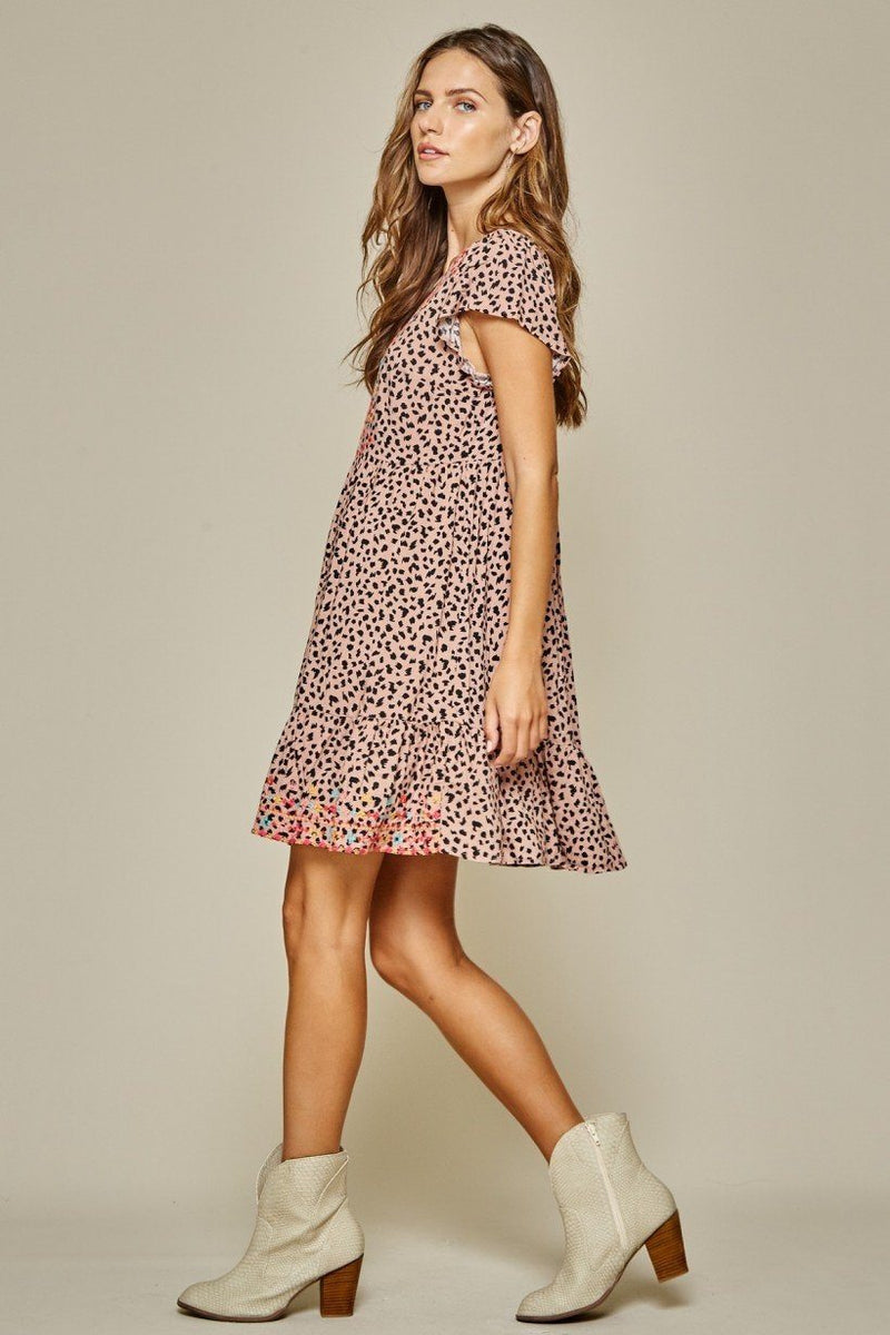 Stole My Heart Multi Embroidered Dress - Caroline Hill