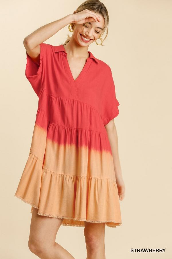 Strawberry Ombre Dress - Caroline Hill