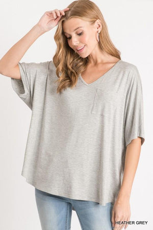 Stuck in the Middle Heather Grey Top - Caroline Hill