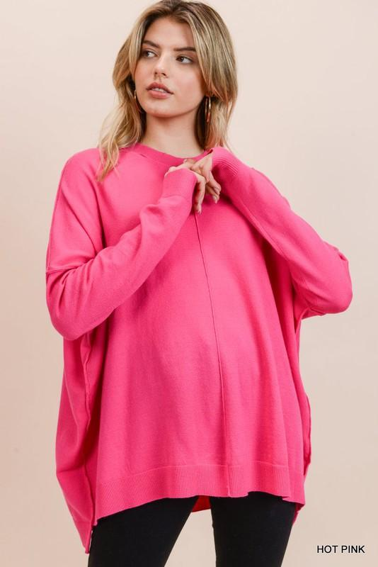 Stuck with You Hot Pink Sweater - Caroline Hill
