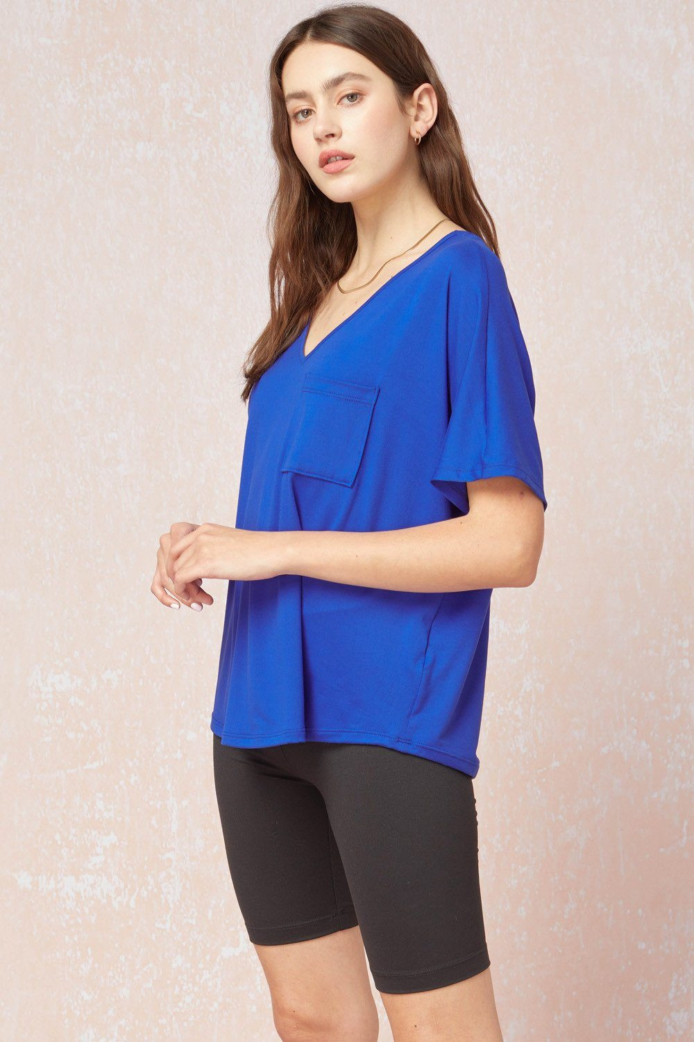 Super Soft Royal Blue Top - Caroline Hill