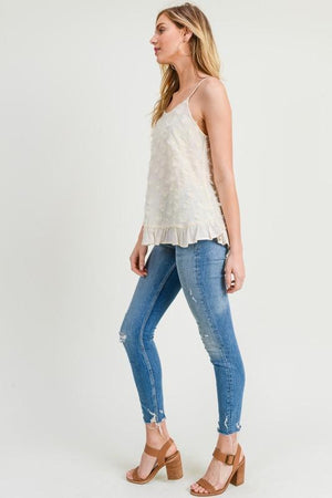 Sweet Vanilla Ruffled Hem Top - Caroline Hill