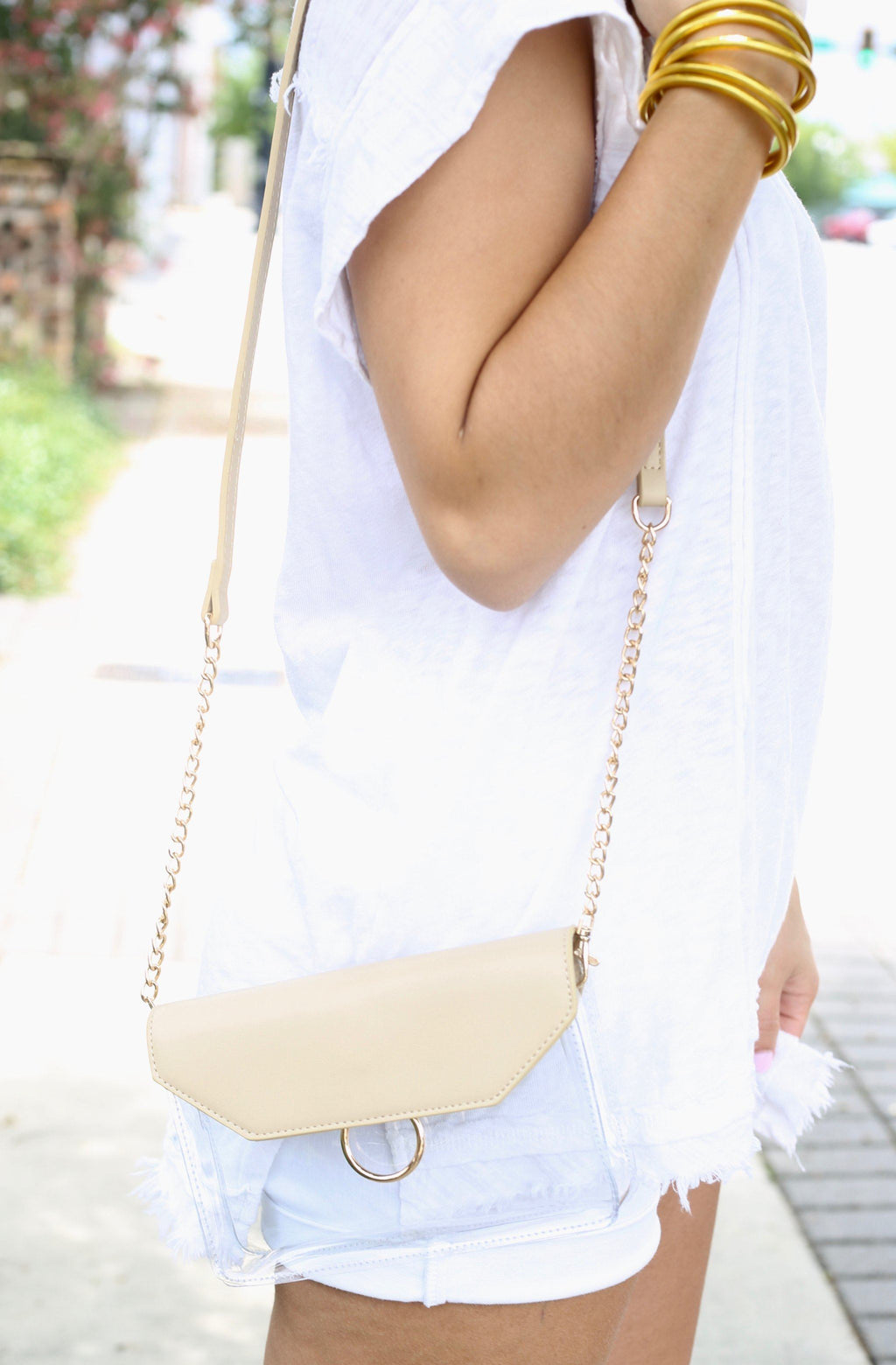 Tailgate Nude Clear Crossbody - Caroline Hill
