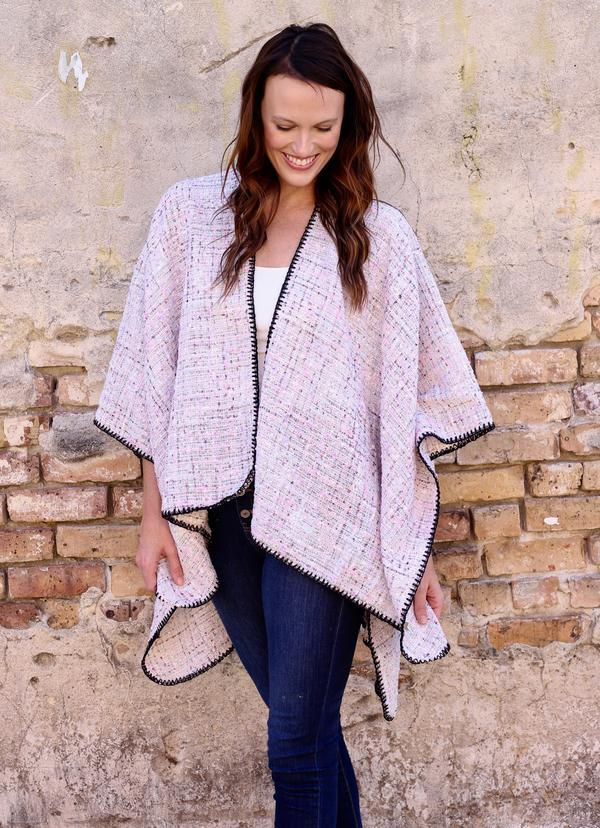 Talley Tweed Wrap/ Cape Ivory - Caroline Hill
