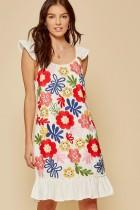 The Flower Garden Embroidered Dress - Caroline Hill