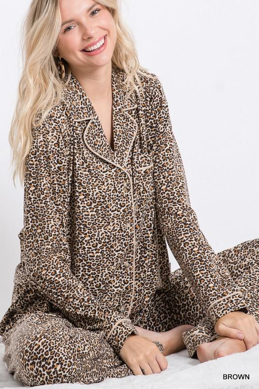 The Leopard Sleeps Tonight Pajama Set - Caroline Hill