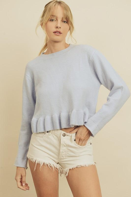 The Sky Is The Limit Blue Sweater - Caroline Hill