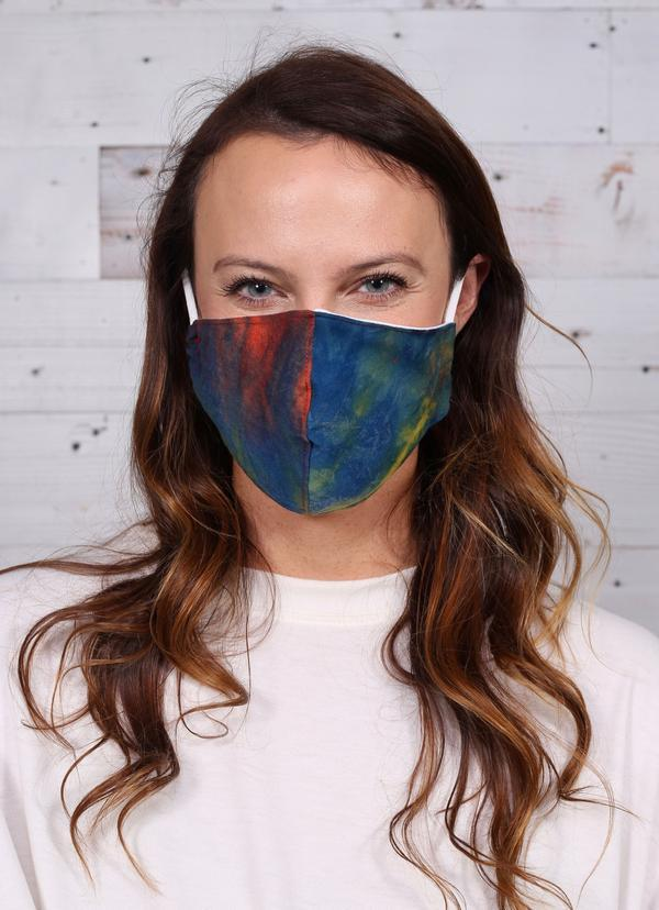 Tiana Tie Dye Mask Dark Multi - Caroline Hill