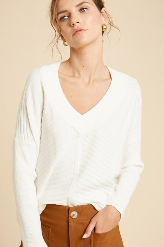 Time To Relax Cream Sweater - Caroline Hill