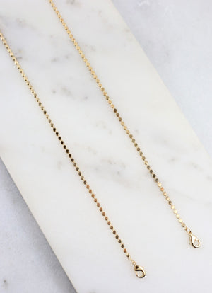 Tinero Link Mask Chain Gold - Caroline Hill