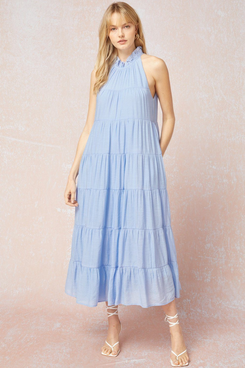 Touch Of Summer Baby Blue Maxi - Caroline Hill