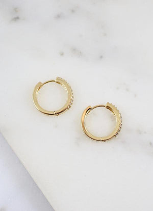 Tress CZ Gold Lined Hoop - Caroline Hill