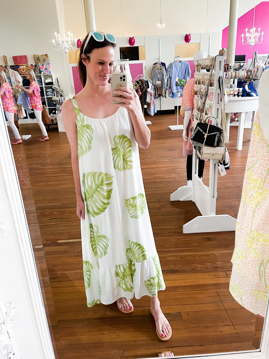 Tropical Palm Island Maxi Dress - Caroline Hill