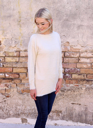 Tucker Soft and Fuzzy Ivory Sweater - Caroline Hill