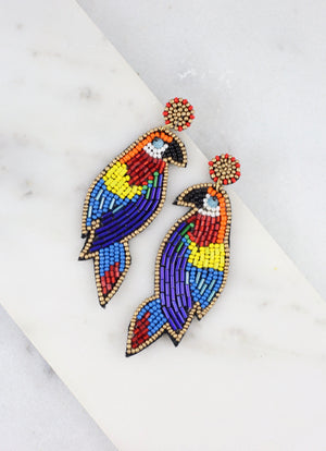 Tweety Multi Embellished Bird Earring - Caroline Hill