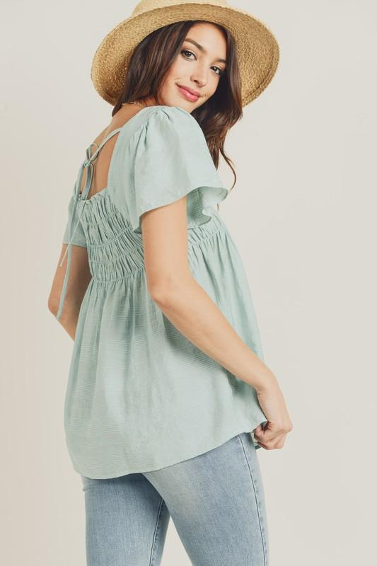 Under The Sea Smocked Top - Caroline Hill