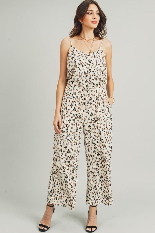 Up For The Challenge Animal Print Jumpsuit - Caroline Hill
