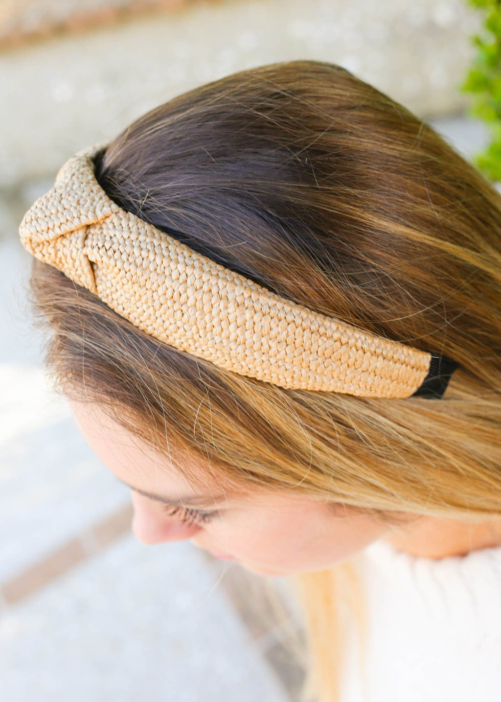 Waco Woven Rafia Natural Headband - Caroline Hill