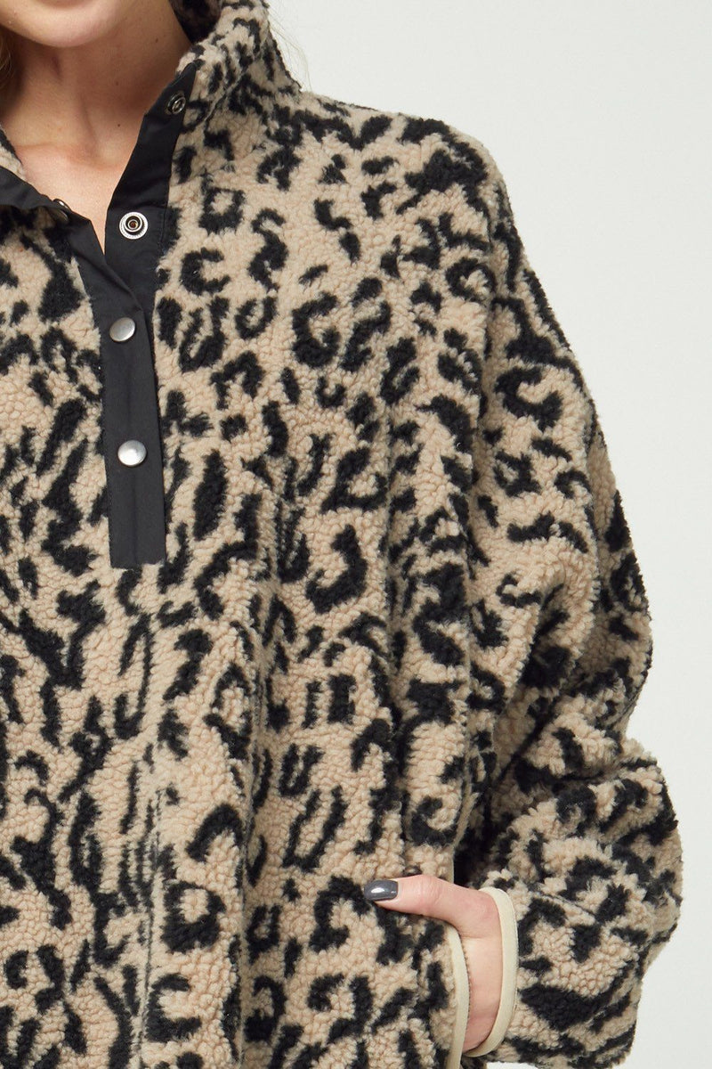 Warm and Cozy Leopard Pullover - Caroline Hill