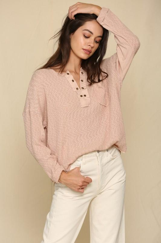 What Dreams Are Made Of Mauve Top - Caroline Hill