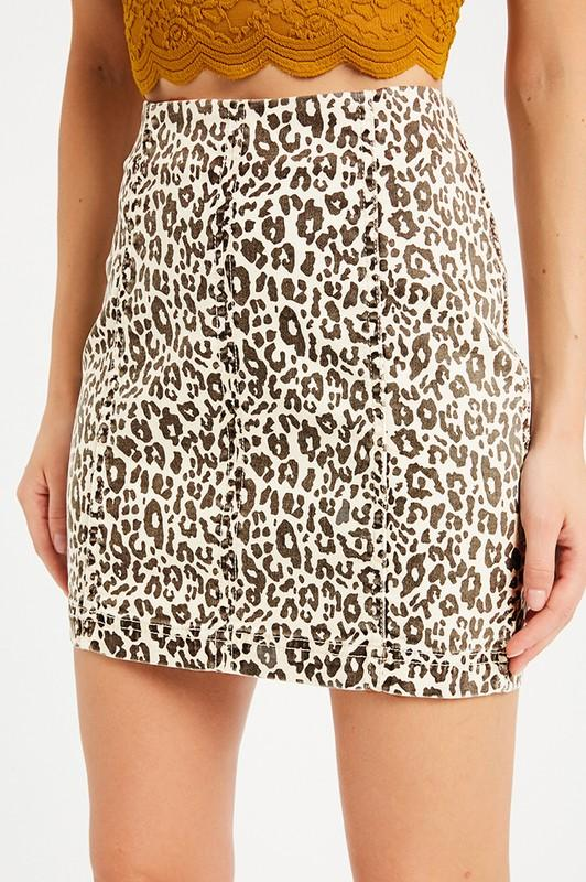 Wild Child Leopard Mini Skirt - Caroline Hill
