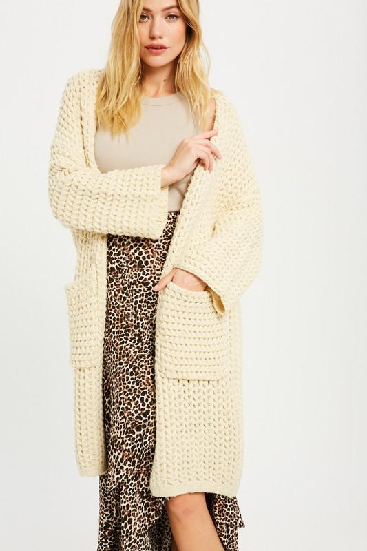 Winter Wonderland Chunky Knit Cardigan - Caroline Hill