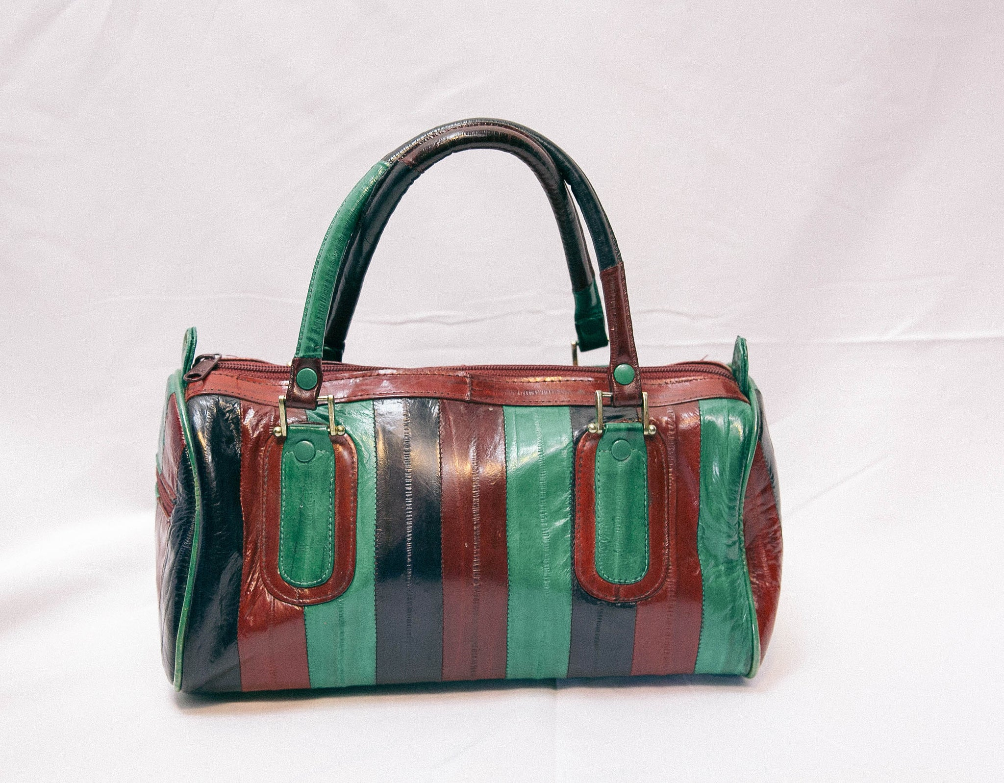 Authentic Striped Eel Handbag