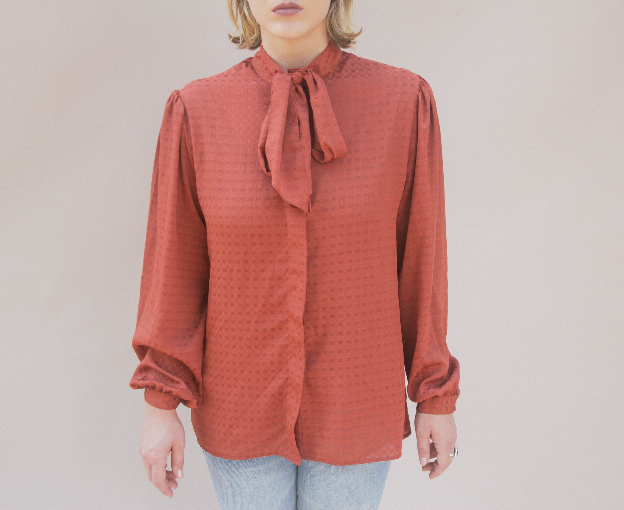 80's Actlll Rust Blouse