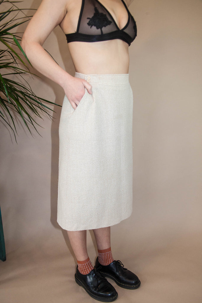 Cream Knit Skirt