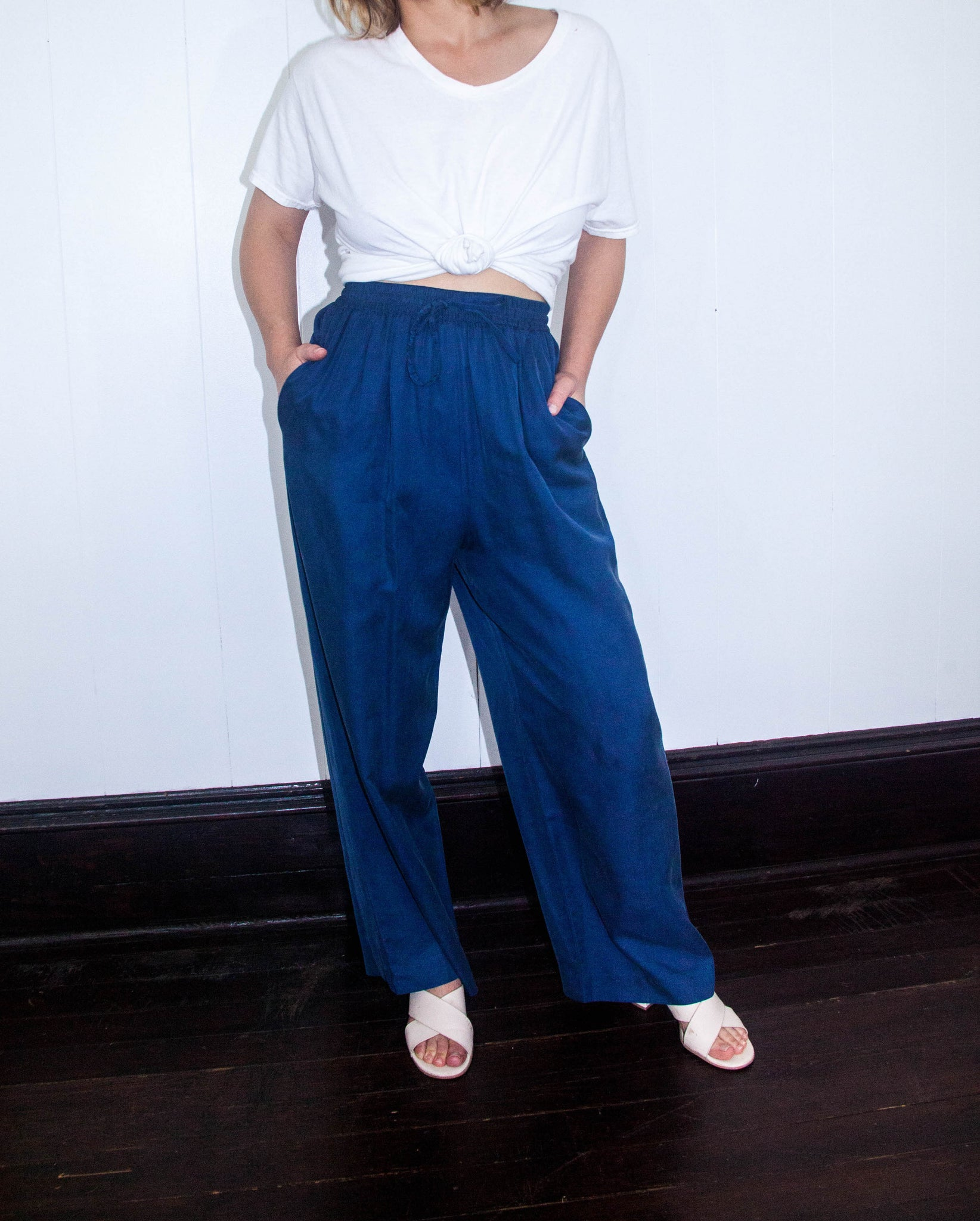 90s Blue Drawstring Pants