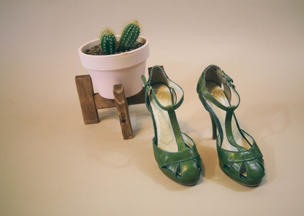 Olive Green Joan & David Stiletto