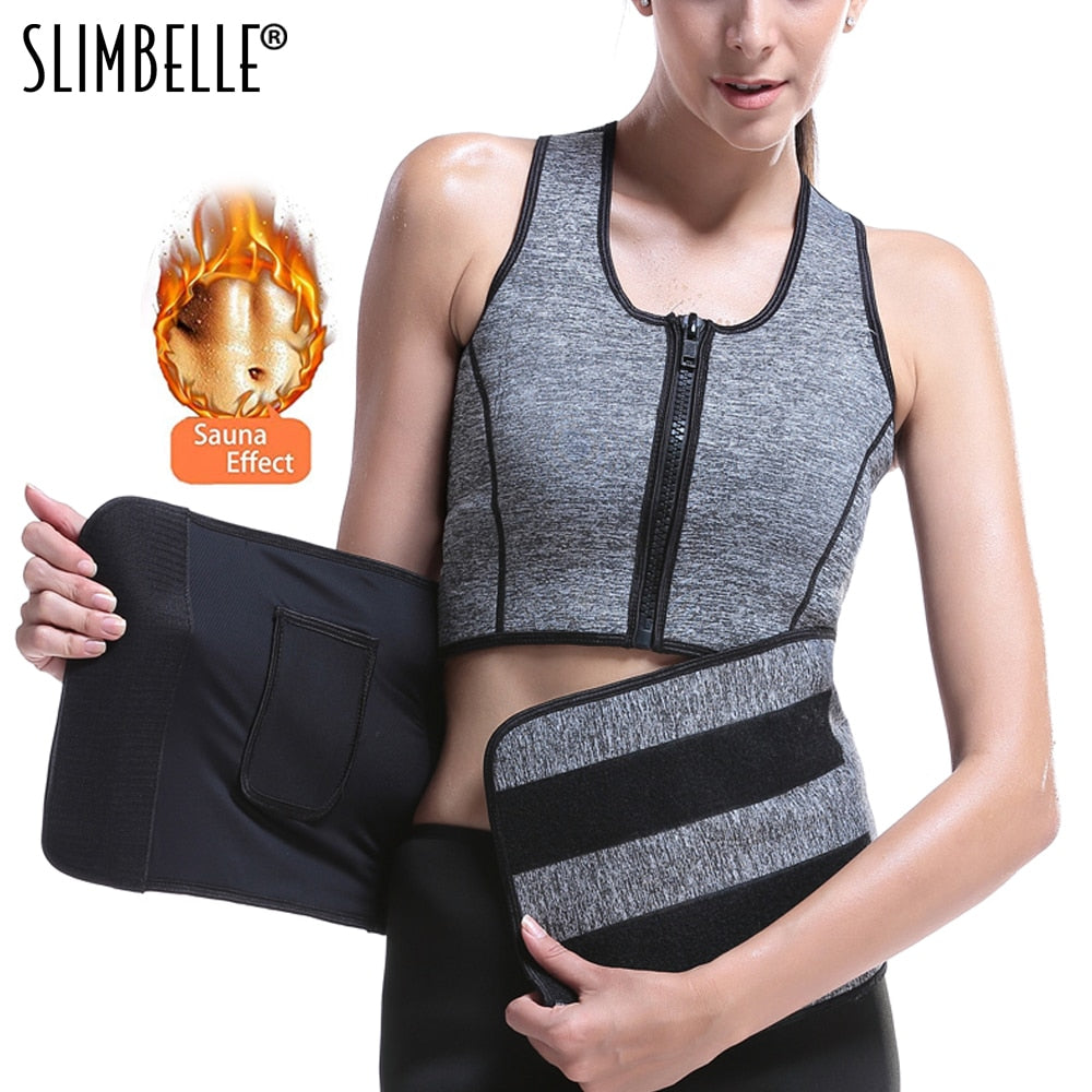 Women Adjustable Waist Trainer Vest Belts Sweat Sauna Suit