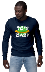 Navy 90s Baby World Sweatshirt