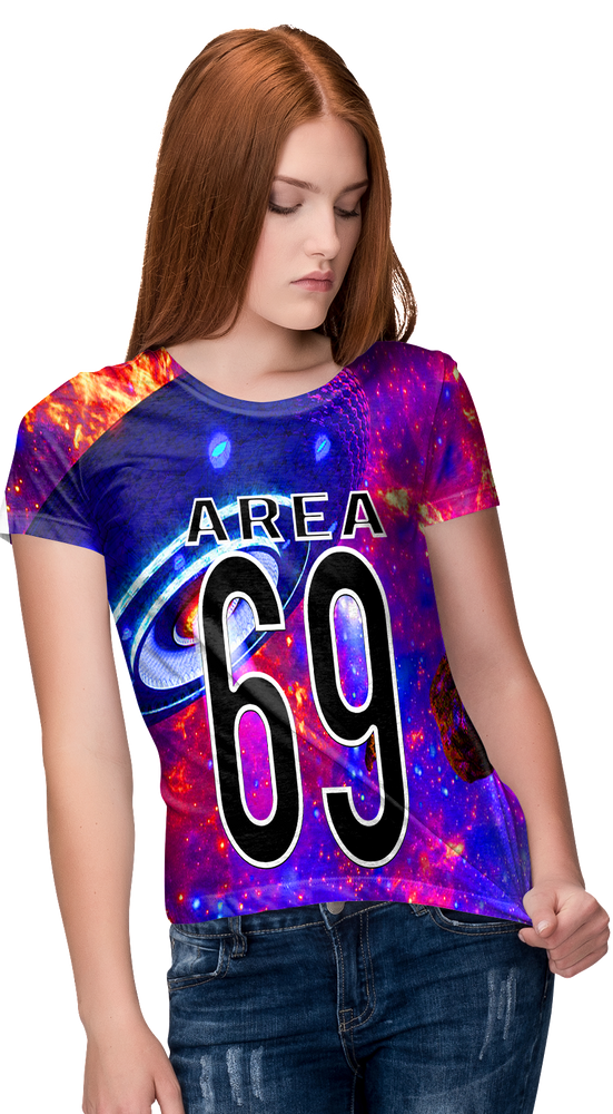 Area 69 Women's All-Over Printed T-Shirt