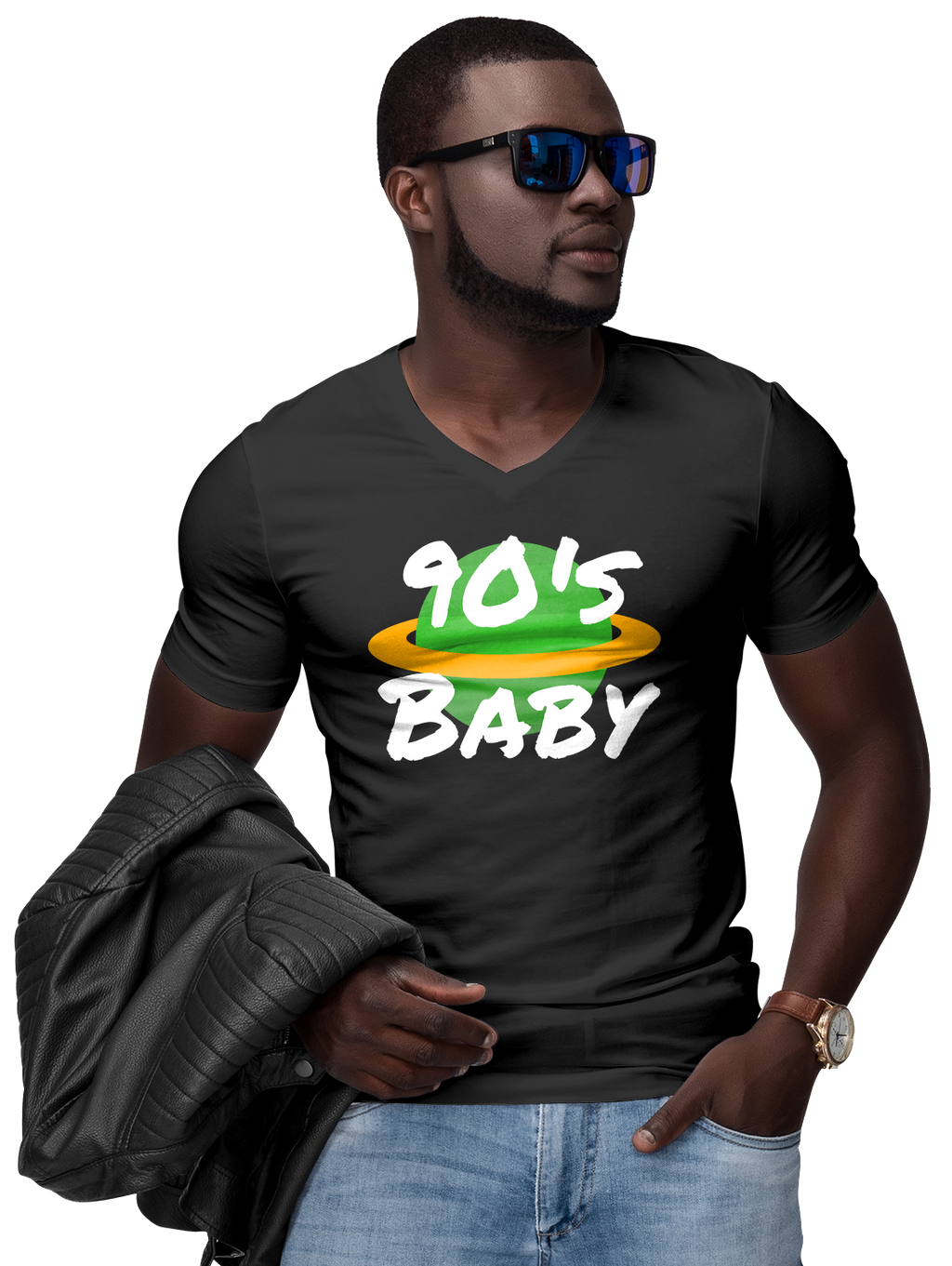 90's World Baby V-Neck T-Shirt | Shirts | BFY Apparel | Streetwear & More