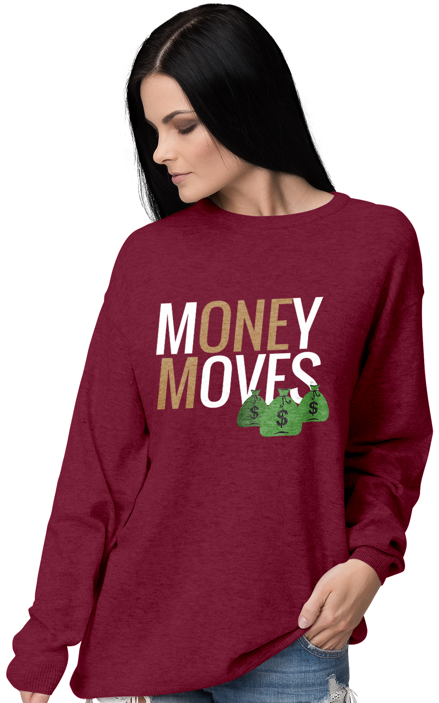 Money Moves W/ Money Bags Sweatshirts (W) | Sweatshirt | BFY Apparel | Streetwear & More
