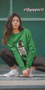 Drink Up Green Women's Hoodie | Hoodies | BFY Apparel | Streetwear & More