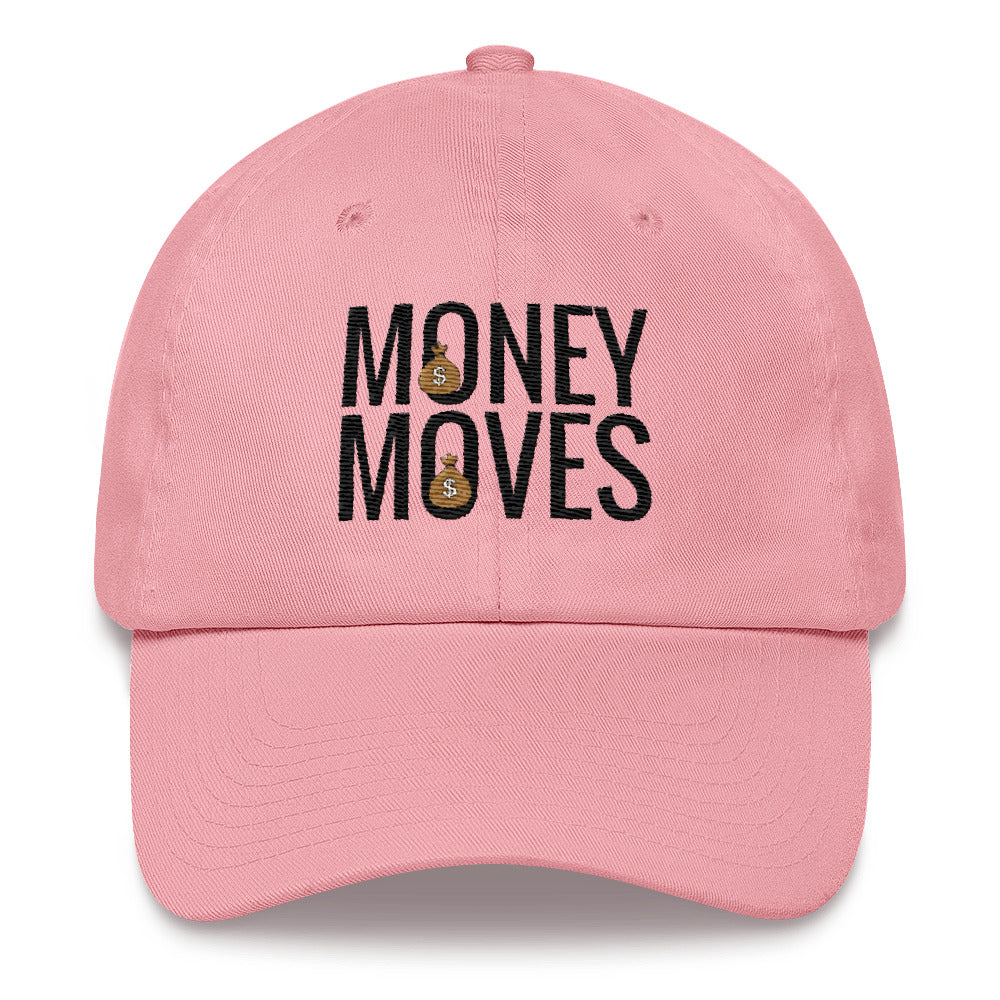 Money Moves w/ Black Words Dad Hats | Hats | BFY Apparel | Streetwear & More