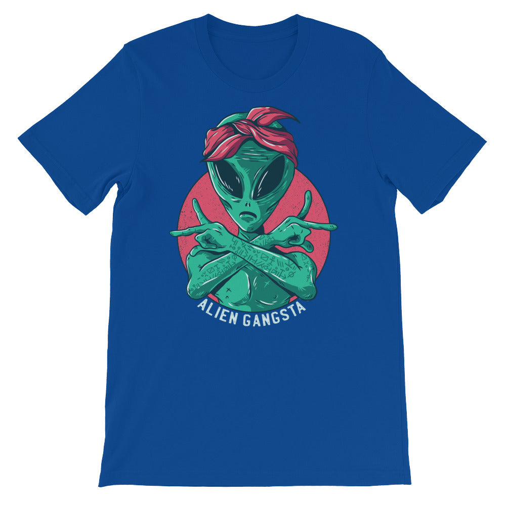 Alien Gangsta Short-Sleeve Unisex T-Shirt | Shirts | BFY Apparel | Streetwear & More