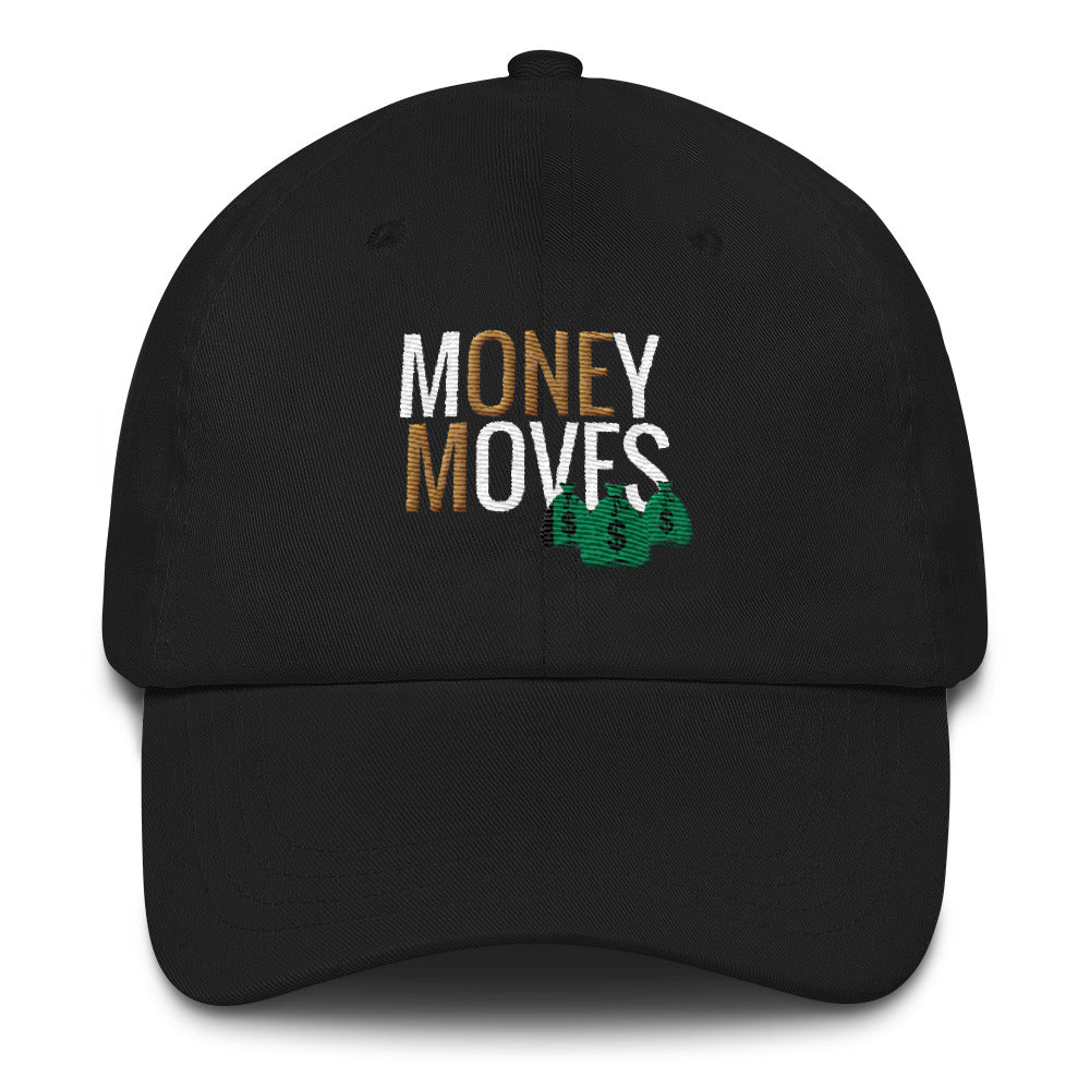 Money Moves w/ Money Bags Dad Hats - BFY Apparel | Streetwear & More