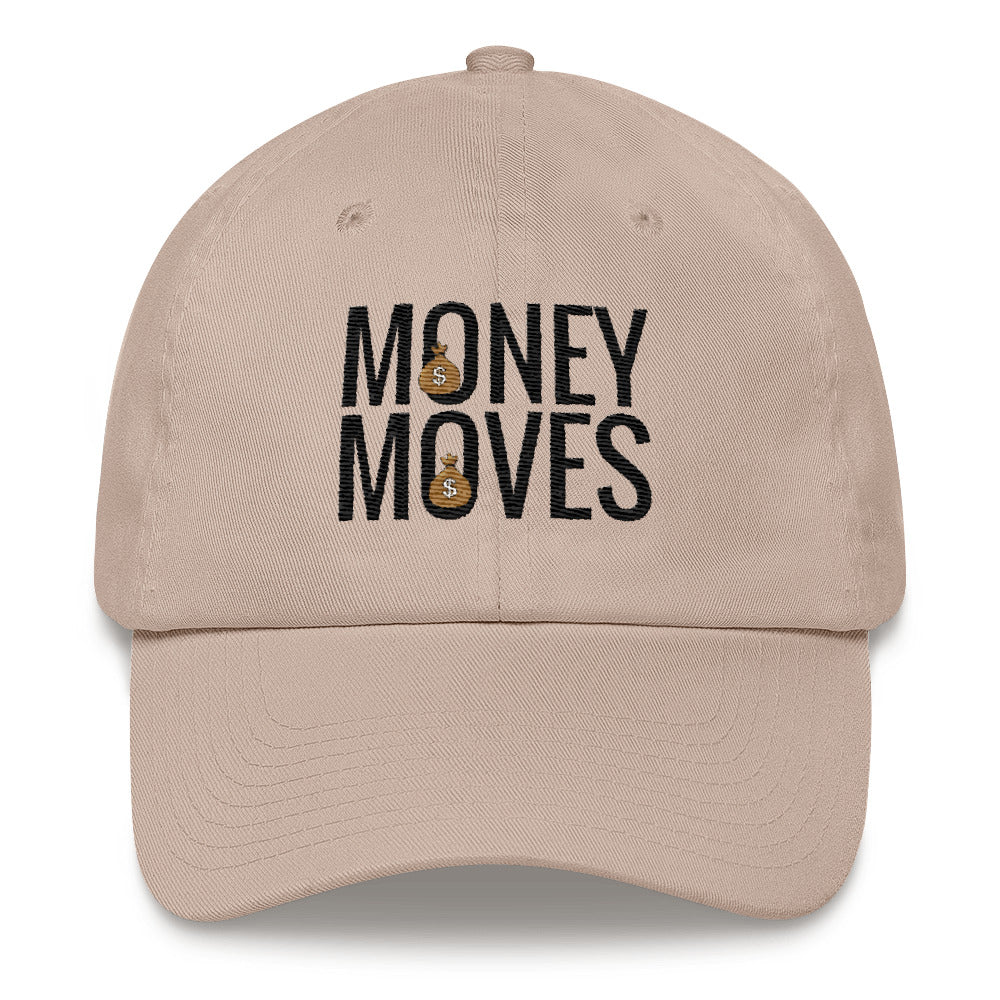Money Moves w/ Black Words Dad Hats - BFY Apparel | Streetwear & More