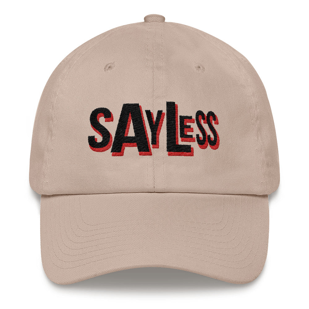 Say Less Black Print Dad Hat | Dad Hat | BFY Apparel | Streetwear & More
