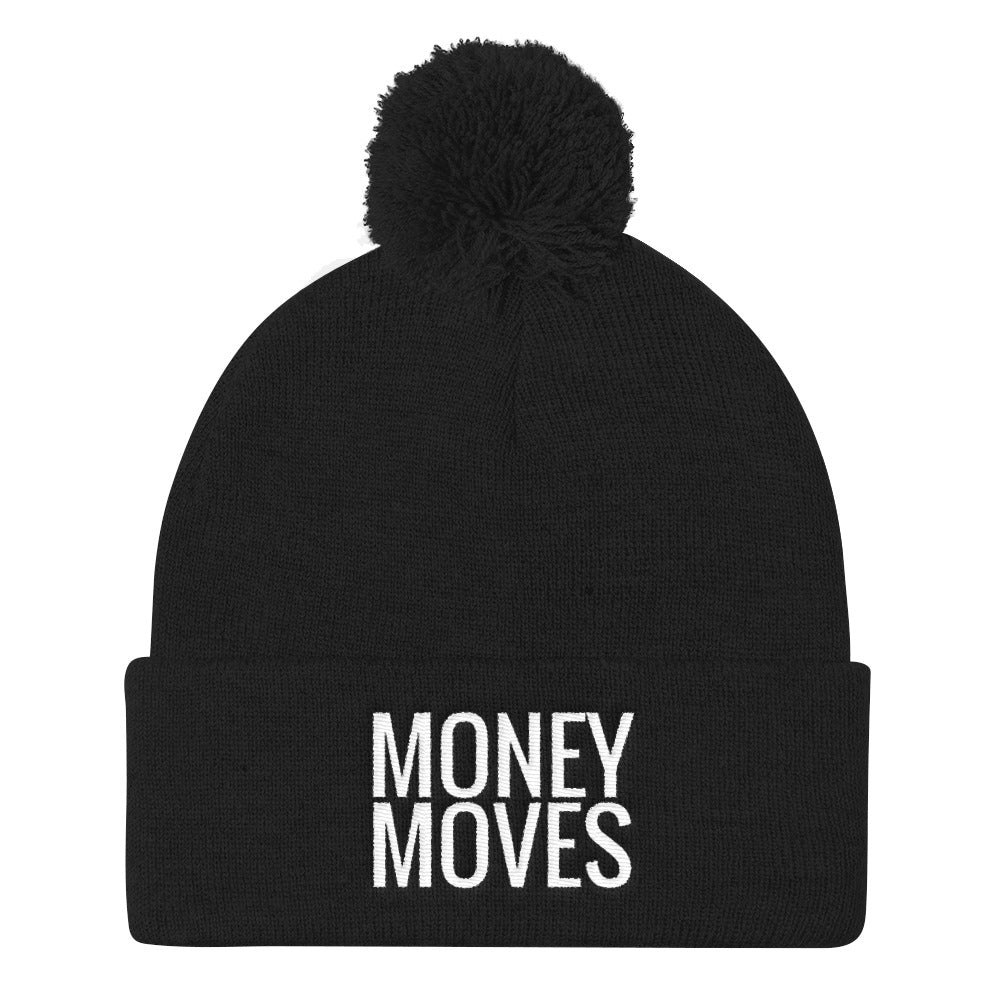 Money Moves Pom Pom Knit Caps |  | BFY Apparel | Streetwear & More