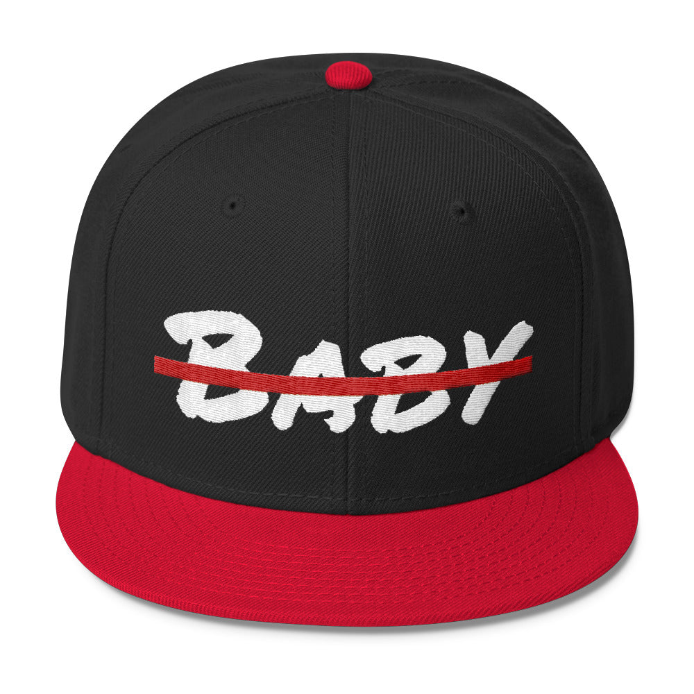 No Baby Wool Blend Snapback - BFY Apparel | Streetwear & More